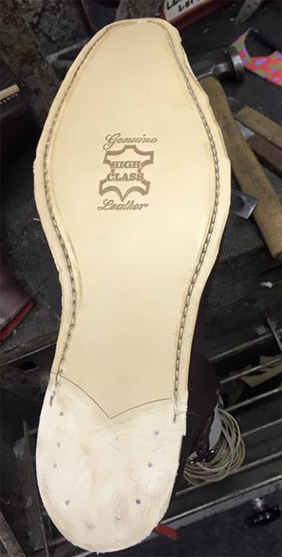 Sole replacement / stitched
